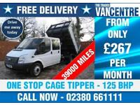 FORD TRANSIT 350 DOUBLECAB ONE WAY TIPPER LWB 125 BHP ONE STOP CAGE 6 SEATS