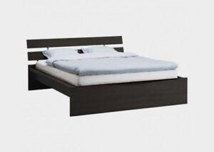 Ikea full bed (hopen) & mattress (sultan hogla)