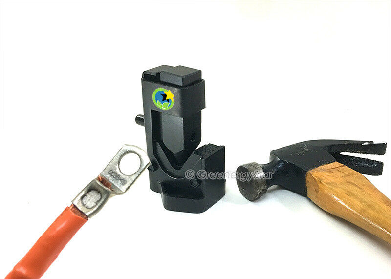 2 Cable Hammer Crimper Tool Battery Welding Wire Terminal Lug Connector 8-4/0AWG