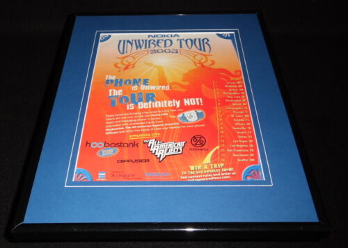 All American Rejects 2003 Nokia Tour Framed 11x14 ORIGINAL Advertisement