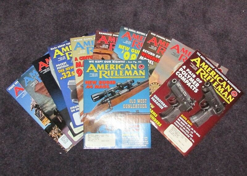 AMERICAN RIFLEMAN MAGAZINES 1998 (LOT OF 12 COMPLETE YEAR) VF