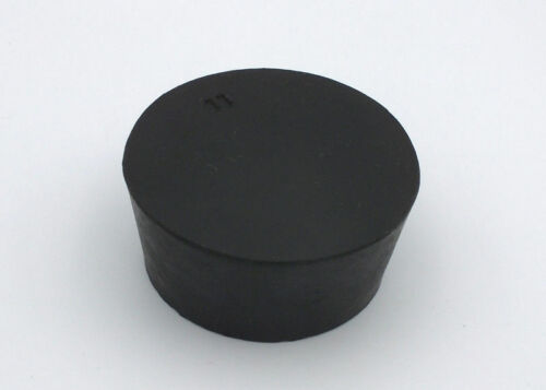 Solid Rubber Stopper-Size 11 Black No-hole
