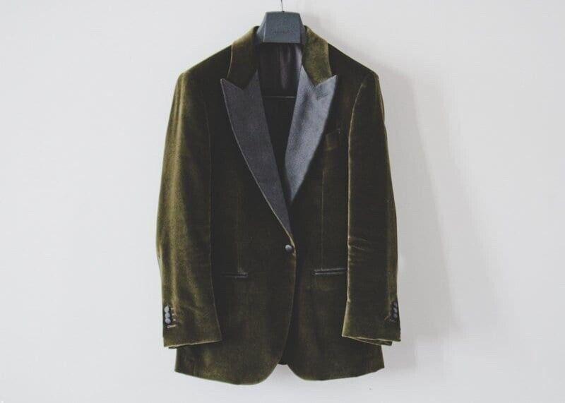 Suitsupply Lazio Tuxedo Dinner Jacket Olive Green 36R