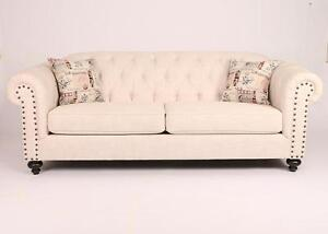 CANADIAN MADE TUFTED BACK SOFA /LOVESEAT /CHAIR ON SALE (AD 285)