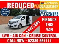 VAUXHALL VIVARO L2 H1 SPORTIVE LWB 115 BHP AIR CON CRUISE CONTROL 3 SEATS