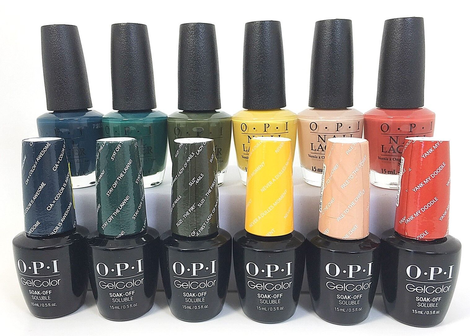 OPI GelColor + Matching Lacquer Fall 2016 Washington D.C Collection ...