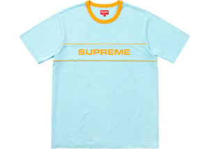 SUPREME - Light Blue T-Shirt Men's Lg & Red Cap NEW/Deadstock