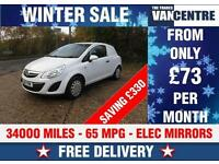 VAUXHALL CORSA VAN 1.3 CDTI 65 MPG LIGHT USE GREAT VALUE WAS £4000 SAVE £330