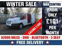 FORD TRANSIT 280 SWB BLUETOOTH 3 SEAT WAS £5470 SAVE £300