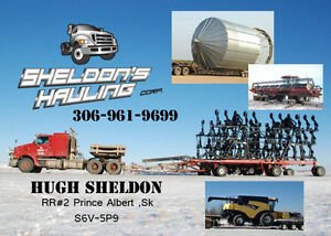 farm equipment hauling and towing and grain bin moving