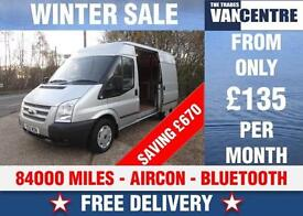 FORD TRANSIT MWB MEDIUM ROOF TREND 125 BHP AIR CON SILVER WAS £7670 SAVE £670