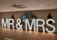 Marquee lettering, flower walls, arches and backdrops for rent