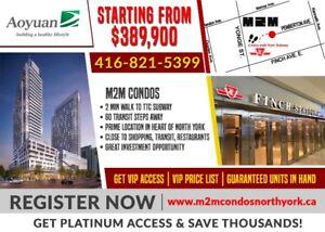 Guaranteed Units in m2m Condos ★ By Yonge & Finch Subway & GO