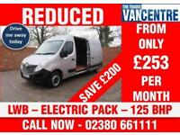 RENAULT MASTER LM35 BUSINESS LWB 125 BHP ELECTRIC PACK 3 SEATS