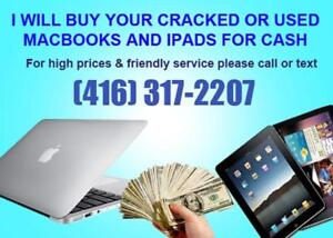 Do You Have Macbooks or Ipads You Are No Longer Using? I will buy them!