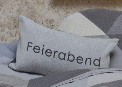 David Fussenegger Kissenbezug Kissen incl. Füllung Feierabend grau 30 x 50 cm