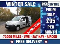 RENAULT KANGOO MAXI LWB BLUETOOTH SAT NAV AIR CON WAS £5370 SAVE £500