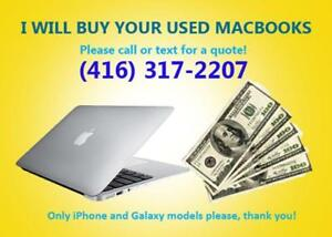 Used Macbook - Will Pay Cash for Them!