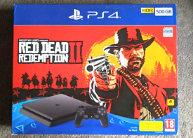 PS4 Slim 500GB 4 Games Red Dead Redemption 2 Playstation 4 Gaming