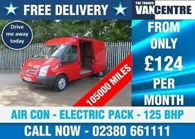 FORD TRANSIT 300 MEDIUM ROOF LWB 125 BHP AIR CON ELECTRIC PACK 3 SEATS