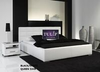 █☎Beautiful Queen Leather Bed Frame!