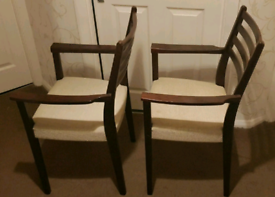Svegards markaryd of sweden pair of Carvers chairs