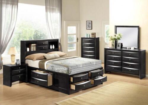 Acme Ireland Black Queen Storage 6 Piece Bed Set 21610Q