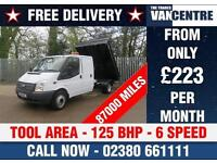 FORD TRANSIT 350 2.2 TDCI DOUBLE CAB TIPPER ONE WAY LWB 125 BHP TOOL AREA