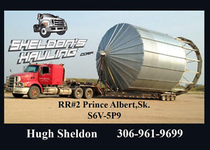 farm equipment  towing and grain bin moving