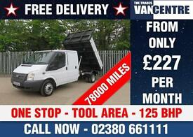 FORD TRANSIT 350 DOUBLE CAB 1 WAY ONE STOP TIPPER LWB 125 BHP TOOL AREA