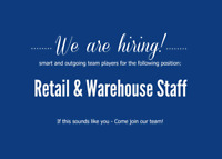 Retail and Warehouse Staff