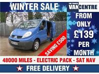 RENAULT TRAFIC SL29 DCI SWB 115 BHP ELECTRIC PACK SAT NAV WAS £7670 SAVE £500
