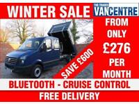 VOLKSWAGEN CRAFTER CR35 TDI DOUBLECAB TIPPER LWB 136 BHP BLUETOOTH 7 SEATS