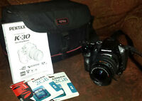 Pentax Camera Package with accessories