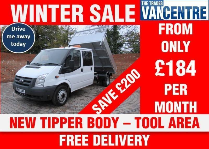 99de82328e996c FORD TRANSIT 350 DOUBLE CAB ONE WAY TIPPER 125 BHP NEW TIPPER BODY TOOL AREA