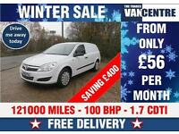 VAUXHALL ASTRA VAN SWB 1.7 CDTI CLUB 100 BHP WAS £3170 SAVE £400