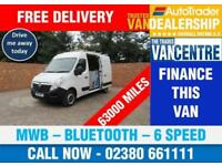 VAUXHALL MOVANO F3500 L2 H2 MWB 100 BHP BLUETOOTH 6 SPEED 3 SEATS