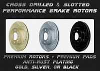 Premium Drilled Slotted Brake Rotors Pads Ceramic Semi Pads