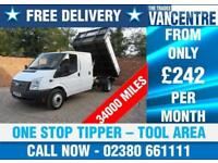 FORD TRANSIT 350 DOUBLECAB 1 WAY TIPPER LWB 125 BHP TOOL AREA 6 SEATS