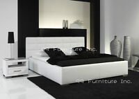 ██MODERN STYLES BRAND NEW BLACK/WHITE LUX LEATHER BEDS
