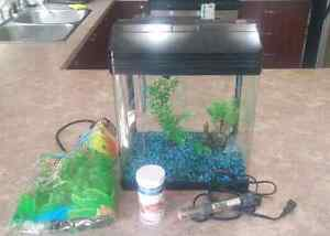 5 Gallon Glass Fish Tank and Filter, and Extra