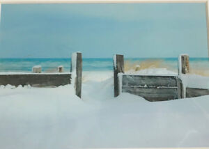 Carrol Norris photo, Snow, Lake Huron