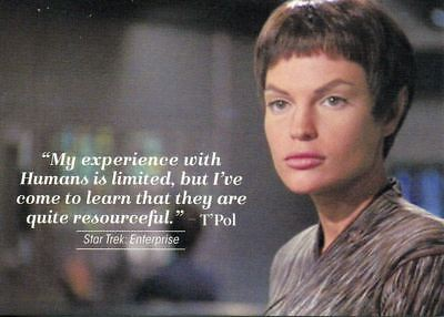Star Trek Women Of 50th Anniversary Quotable Chase Card Q17 T'Pol