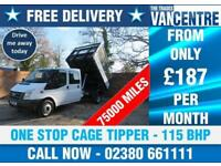 FORD TRANSIT 350 DOUBLE CAB LWB CAGED TIPPER 115 BHP 6 SEATS £9770