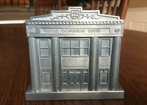 150 th Anniversary Toronto Dominion TD Coin Bank Solid Metal