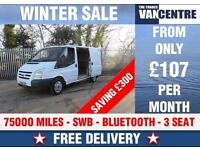 FORD TRANSIT 280 SWB BLUE TOOTH 3 SEAT WAS £5770 SAVE £300