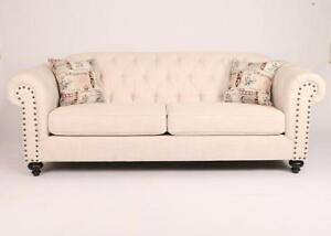 Solid Wood Sofa in Fabric (AC14)