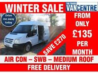 FORD TRANSIT 280 MEDIUM ROOF SWB AIR CON 3 SEATS