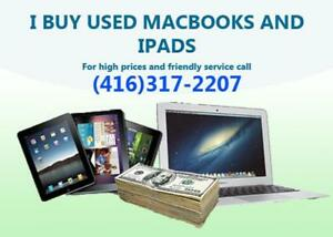 Want to sell your Macbook and iPads for CASH - I will buy them!