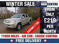 TOYOTA HILUX INVINCIBLE 4 X 4 D4D DOUBLE CAB CRUISE CONTROL WAS £12170 SAVE £700